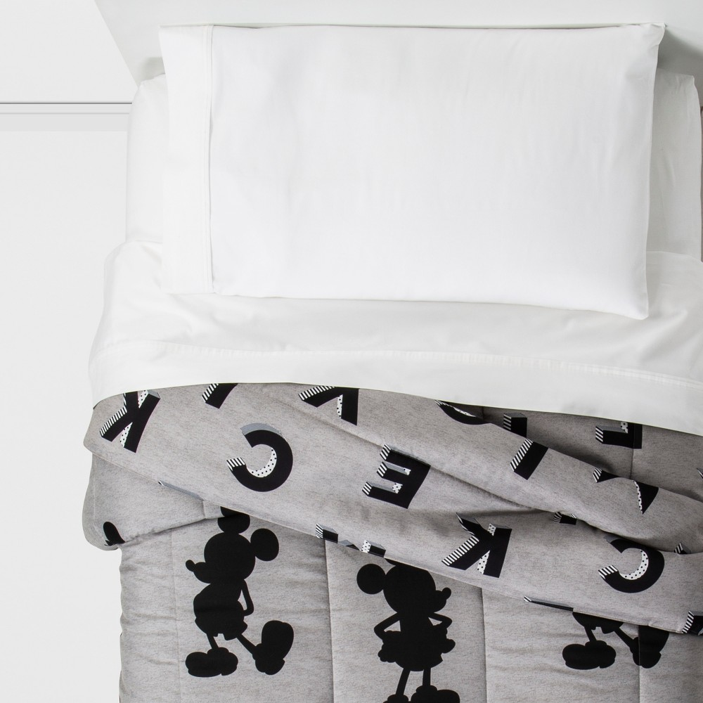 Image of Mickey Mouse & Friends Mickey Mouse Twin Comforter Gray