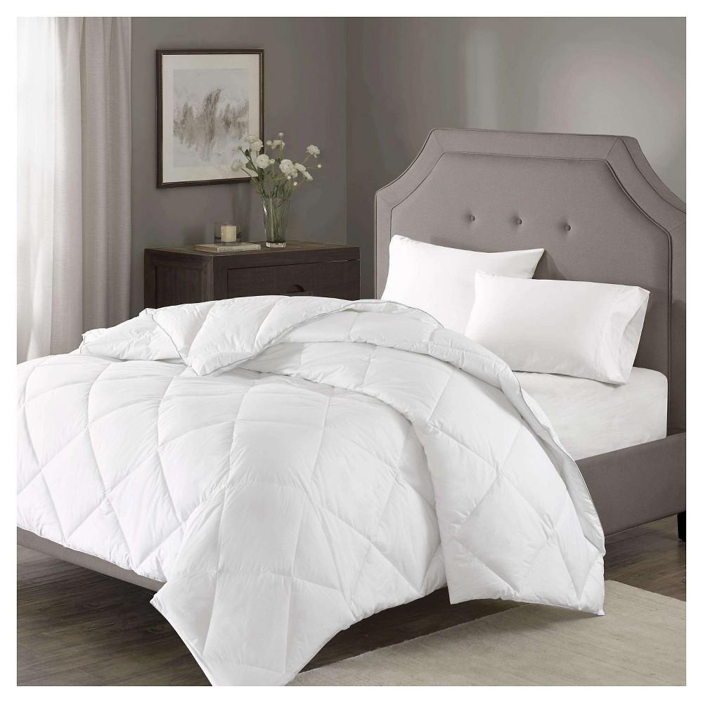 Diamond Quilting 1000 Thread Count Cotton Rich Down Alternative Comforter (Full/Queen) White