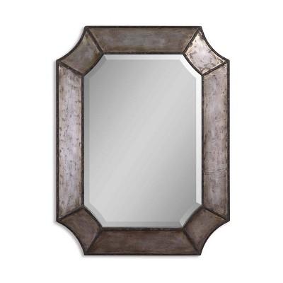 Rectangle Elliot Distressed Aluminum Decorative Wall Mirror - Uttermost