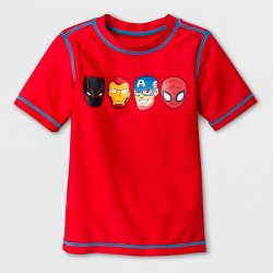 Toddler Boys' Marvel Avengers Rash Guard - Red