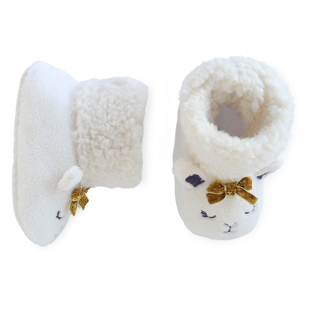 Girls' Bootie Slippers White 2T/3T - Circo, Size: 2T-3T