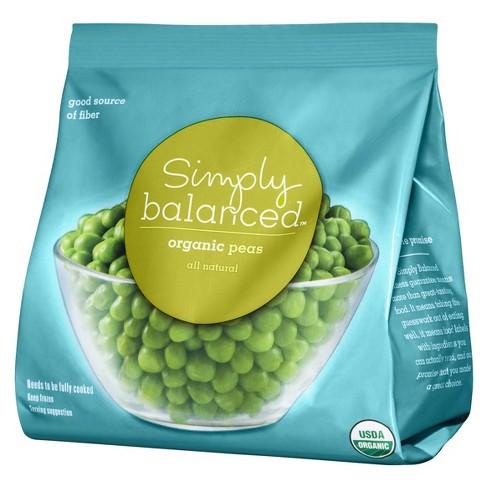 Frozen Organic Peas - 10oz - Simply Balanced™ - image 1 of 2