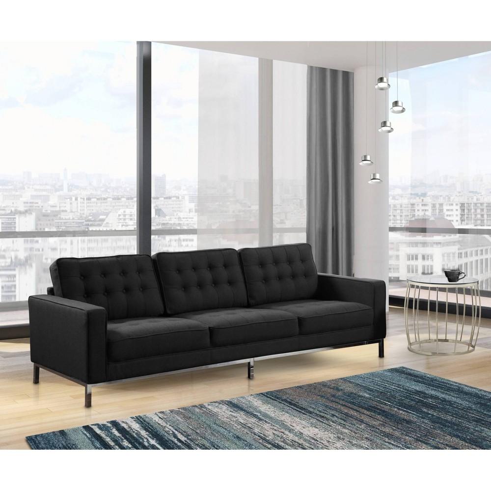 Sterling Sofa Black - Chic Home Design