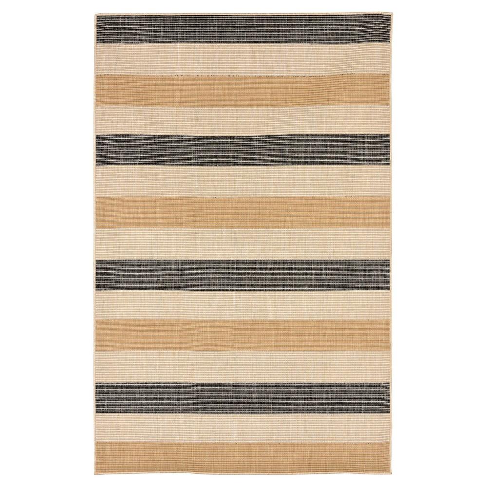 Gray Multi Stripe Woven Runner 1'11