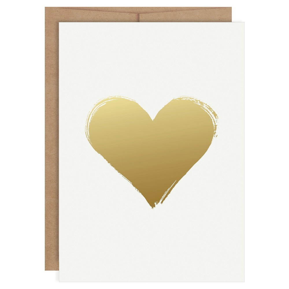 Image of Heart Shaped Foil Art Card Gold