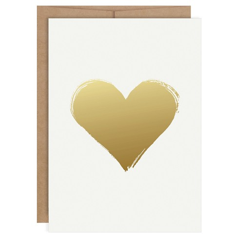 Heart Shaped Foil Art Card Gold - image 1 of 4