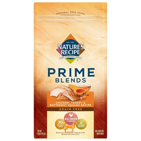 Nature's Recipe Prime Blends Grain Free Chicken, Turkey & Butternut Squash Recipe Adult Dry Dog Food - image 1 of 4