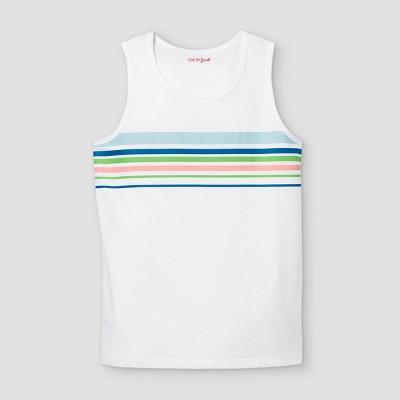 Boys' Striped Tank Top - Cat & Jack™ White