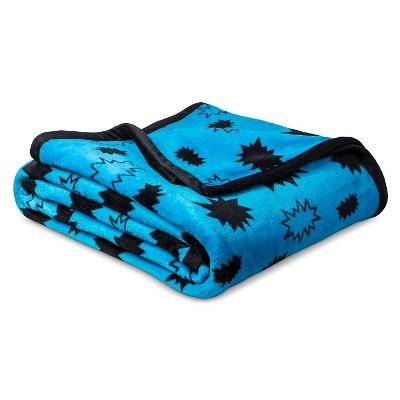 Super Hero Plush Blanket (Twin)Blue - Pillowfort™
