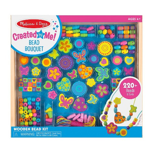 Melissa & Doug Bead Bouquet Deluxe Wooden Bead Set With 220+ Beads for Jewelry-Making - image 1 of 3