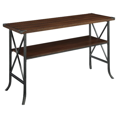 Brookline Console Table - Dark Walnut - Convenience Concepts - image 1 of 3