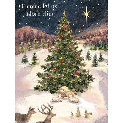 18ct Let Us Adore Him Holiday Boxed Cards