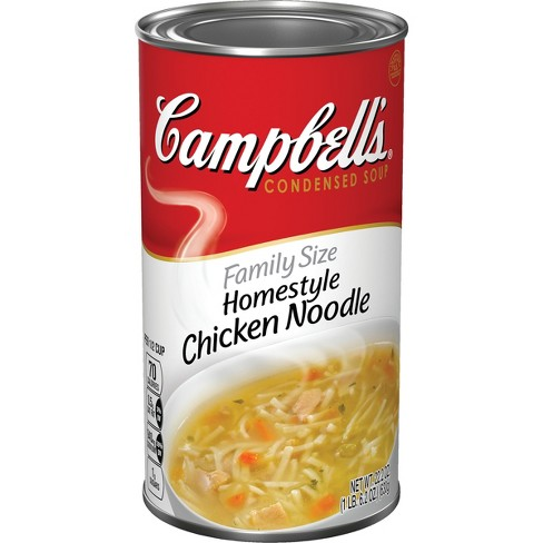 Campbell's® Condensed Family Size Homestyle Chicken Noodle Soup 22.2 oz - image 1 of 5