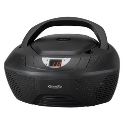 Jensen CD AM/FM Radio Boombox with LED display - Black (CD-475)