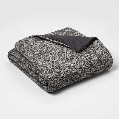 "50"" x 70"" 12lb Heather Gray Weighted Blanket with Removable Cover - Room Essentials™"