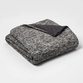 "50"" x 70"" 12lbs Weighted Blanket with Removable Cover Heather Gray - Room Essentials™"