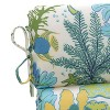 Outdoor Rounded Chair Cushion - Green/Blue Ocean Scene - image 2 of 4