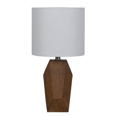Faux Wood Straight Side Table Lamp Brown (Lamp Only)- Project 62™