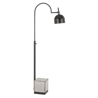 """65"""" Metal Urban Style Desk Lamp with Cement Base Black - Cal Lighting"""
