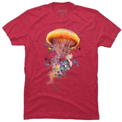 Electric Jellyfish World Mens Graphic T-Shirt - Design By Humans