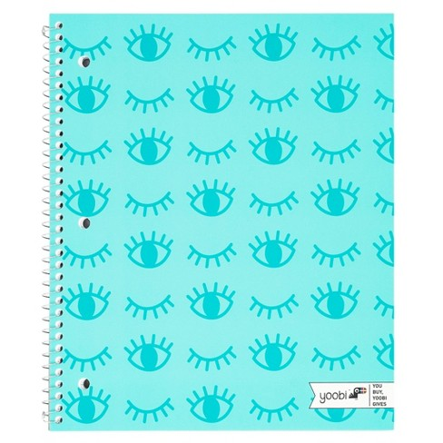 1 Subject College Ruled Spiral Notebook Aqua - Yoobi™ - image 1 of 3