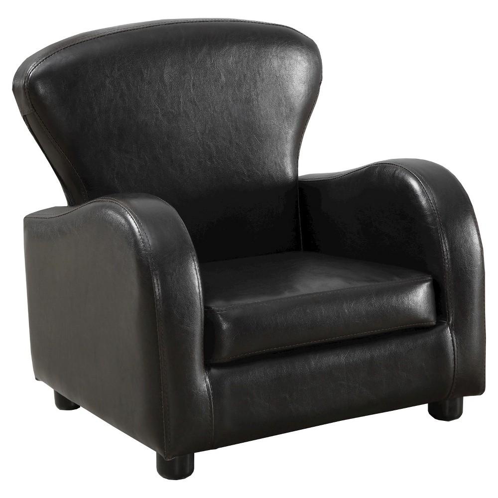 Kids Leather Juvenile Club Chair - Brown - EveryRoom