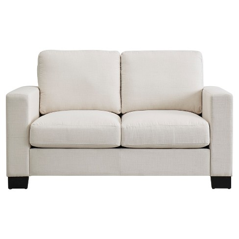 Carnegie Hill Down Filled Loveseat White - Inspire Q® - image 1 of 7