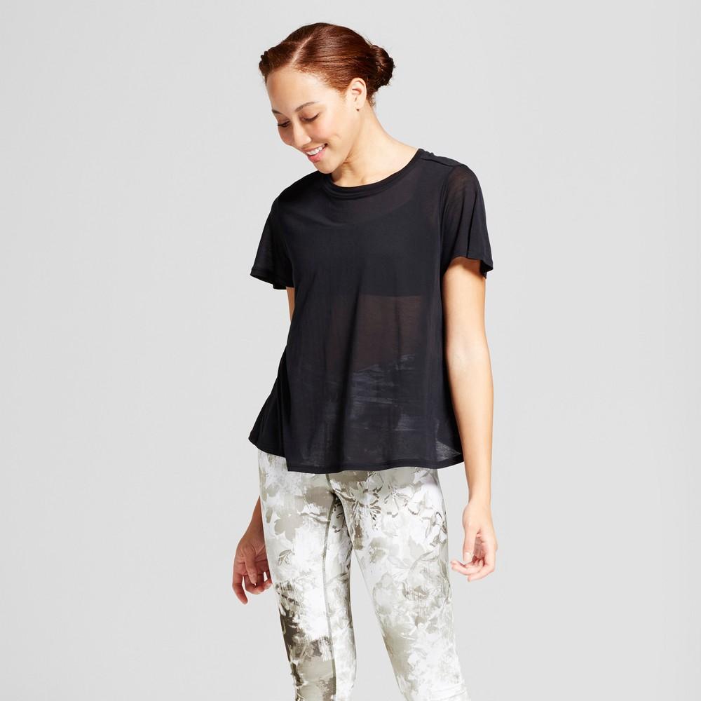 Women's Flutter Back T-Shirt - JoyLab Black M