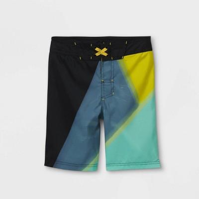 Boys' Colorblock Swim Trunks - art class™ Black