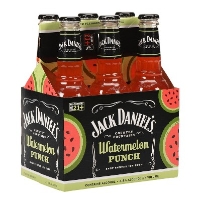 Jack Daniel's Watermelon Punch Country Cocktails - 6pk/10 fl oz Bottles
