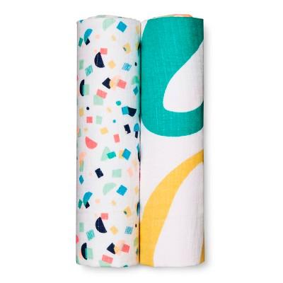 Oh Joy!® Muslin Blanket - Oh Cutie Pie/Confetti - 2pk - Green/White