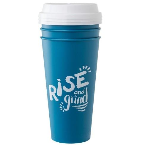 Aladdin 20oz 3pk Reusable To-Go Cups Blue - image 1 of 2
