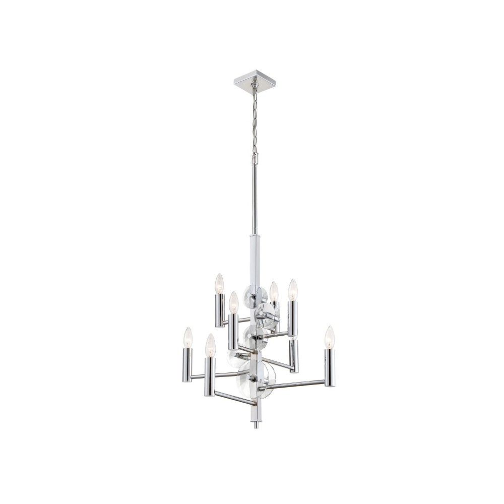 Image of Engeared 8 Light Chandelier Chrome - Varaluz
