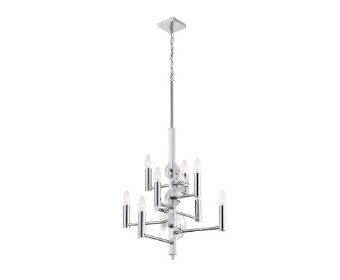 Engeared 8-Light Chandelier Chrome - Rogue Decor Co. - image 1 of 3