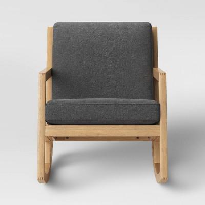 Fairglen Wood Arm Modern Rocking Chair Charcoal - Project 62™