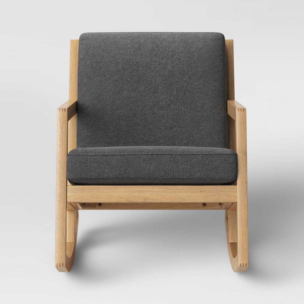 Fairglen Wood Arm Modern Rocking Chair Charcoal (Grey) - Project 62