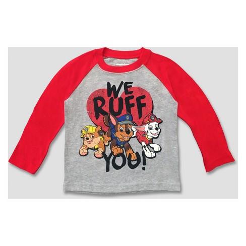 T-shirts & Tops Paw Patrol Boys Long Sleeve Tops 100% Cotton T-shirts Marshall Rubble 2-6 Yrs