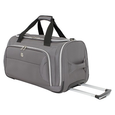 SWISSGEAR Checklite 22  Wheeled Duffel Bag - Charcoal