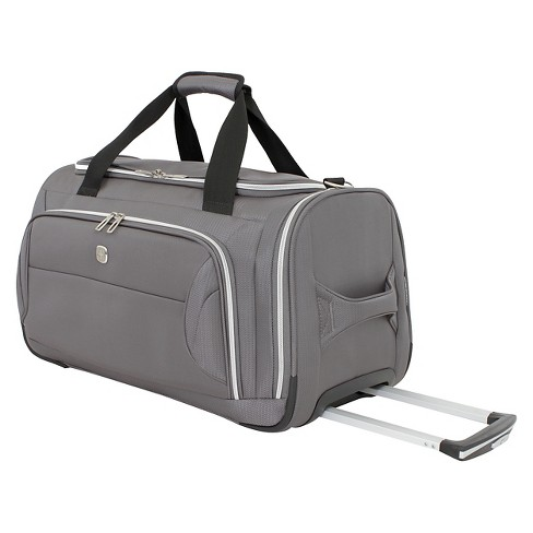 "SwissGear Checklite 22"" Wheeled Duffel Bag - Charcoal - image 1 of 5"