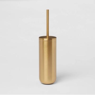 Brushed Brass Toilet Bowl Brush Gold - Threshold™