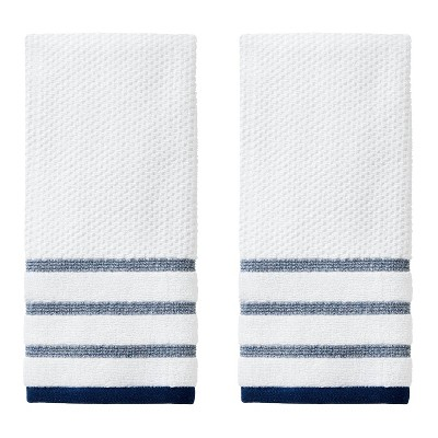 2pc Vern Yip Boho Floral Hand Towel Set Navy - SKL Home