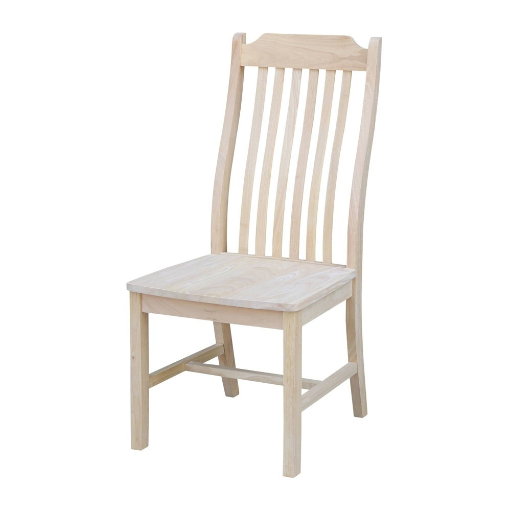 Set Of 2 Steambent Mission Chair Unfinished - International Concepts
