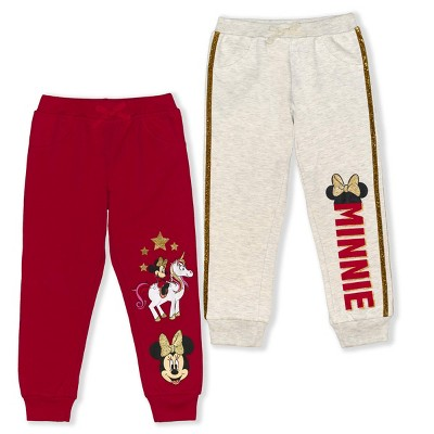 Disney Girl's 2-Pack Minnie Mouse Pull On Jogger Pant Set