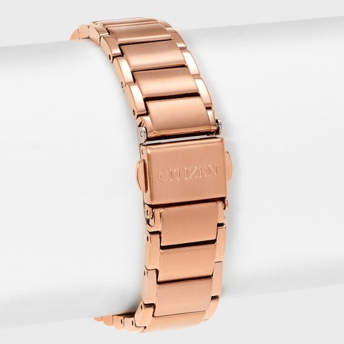 Women s Citizen Axiom GA1058-59Q Stainless Steel Diamond Accent Dial  Bracelet Watch - Rose Gold Black   Target 3e1b08a318