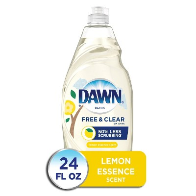 Dawn Free & Clear Dishwashing Liquid Dish Soap, Lemon Essence - 24 fl oz