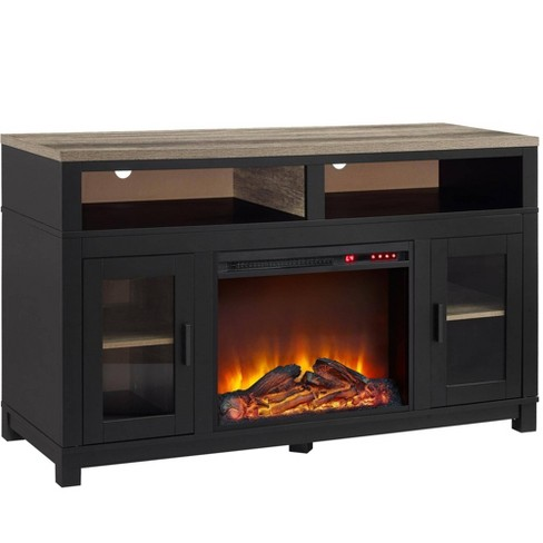 Paramount Electric Fireplace Tv Stand For Tvs Up To 60 Wide Black Room Joy Target