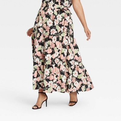Women's Floral Print Wrap Maxi Skirt - Who What Wear™