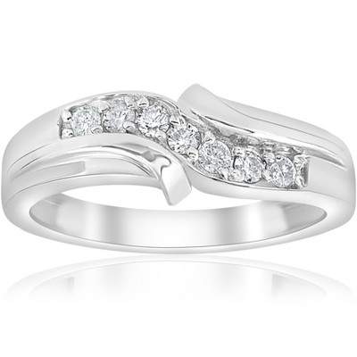 Pompeii3 Platinum 1/4ct Diamond Mens Wedding Ring