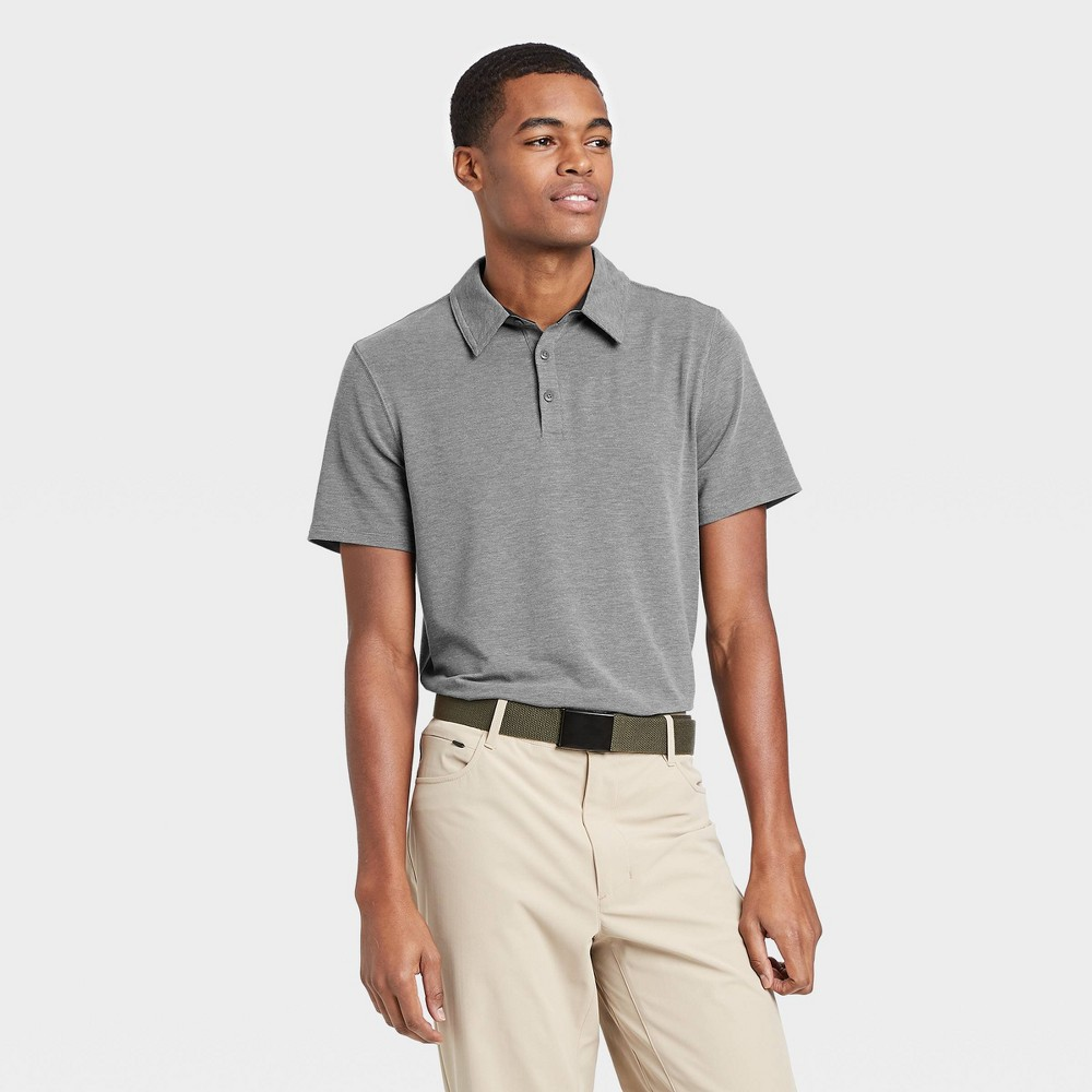 Men's Pique Golf Polo Shirt - All in Motion Gray L was $22.0 now $12.0 (45.0% off)