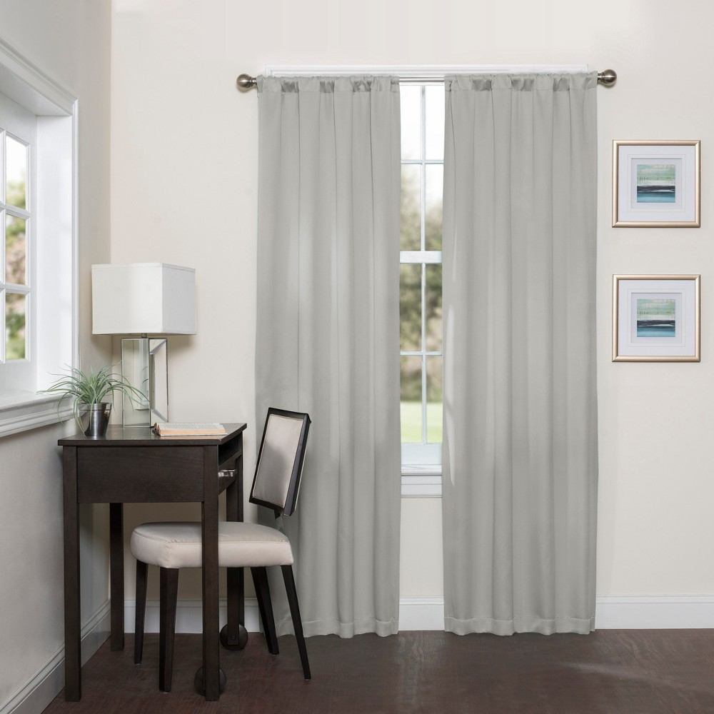 84 34 X37 34 Darrell Thermaweave Blackout Curtain Panel Gray Eclipse